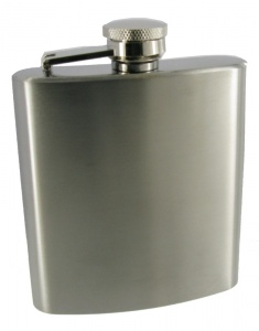 6oz High Polish Hip Flask