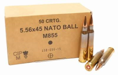 5.56 GGG military ball 62gn FMJ (50 Round Pack) - Collection Only