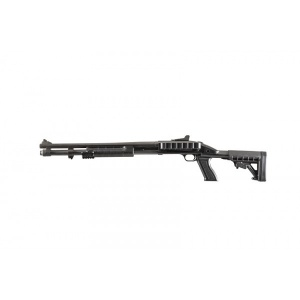 Archangel 870SC Tactical Shotgun Stock System (Remington 870) with Receiver Mount Shell Carrier - Black Polymer