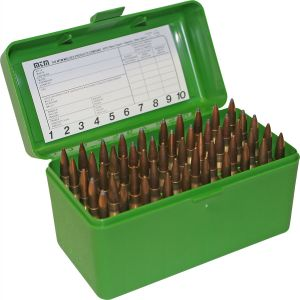 MTM RS 50 Flip Top Ammo Box - Green