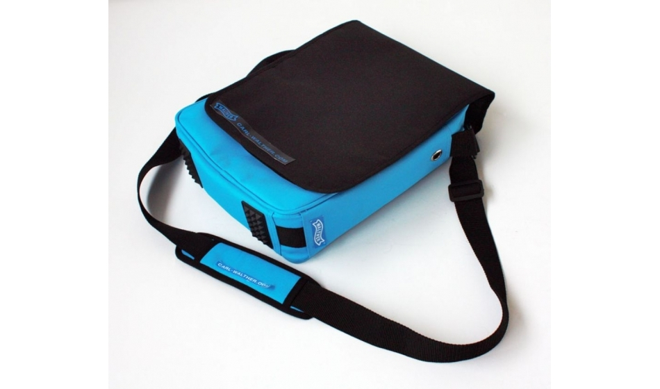 Walther shoulder bag, blue, with flap27 x 35 x 10 cm
