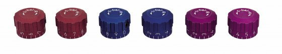 ahg-Knob Set for rear sight 6805/7002, blue