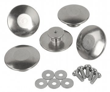 Alu buttons for jackets 5 pcs in plastic bag,