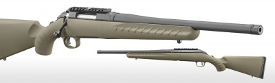 Ruger American Ranch Rifle, Matte Black, 16.12 Barrel