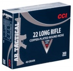 CCI 22LR AR Tactical Copper Round 40gr 0.22LR (300 Rounds)  - Collection Only