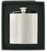 6oz Satin Finish Hip Flask